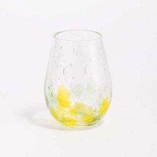 琉球ガラス 海風 しまいろ細タルグラス(黄緑)