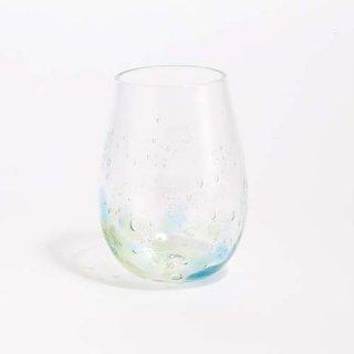 琉球ガラス 海風 しまいろ細タルグラス(水緑)