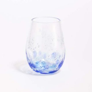 琉球ガラス 海風 しまいろ細タルグラス(青水)