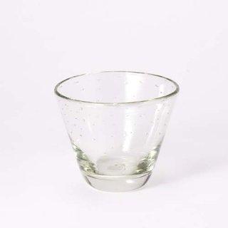 琉球ガラス ガラス工房清天 【気泡】コーングラス小(クリア)