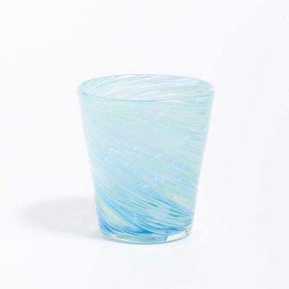 琉球ガラス 匠工房 渦 グラス(水ぎょく)