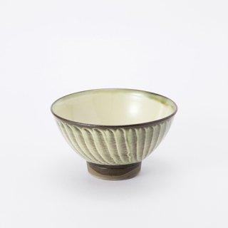 小鹿田焼 飯椀(刷毛目・緑)