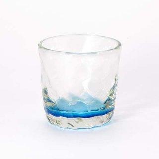 琉球ガラス ガラス工房清天 底色みなもロックグラス ブルー
