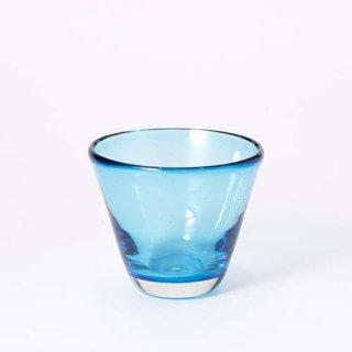 琉球ガラス ガラス工房清天 コーングラス小 ライトブルー