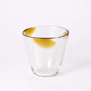 琉球ガラス 吹きガラス工房 彩砂 三つ玉グラス(飴)