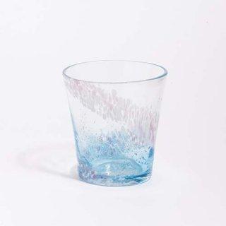 琉球ガラス 海風 花筏 グラス 水色