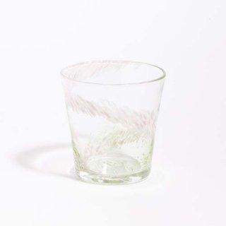 琉球ガラス 海風 花筏 グラス 緑