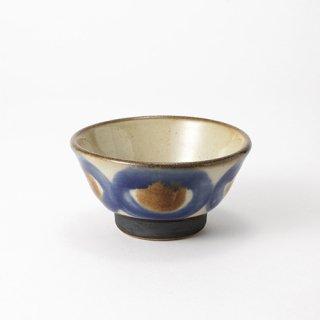 やちむん ノモ陶器製作所 3.5寸マカイ(コバルト)