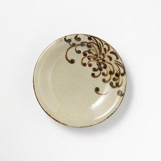 やちむん 山城窯 5寸皿(菊紋)