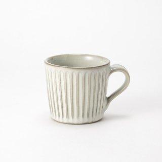 やちむん 工房o-gusuya わら灰釉しのぎマグカップ