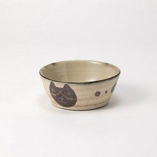 やちむん 工房o-gusuya ハチワレネコ小鉢 02