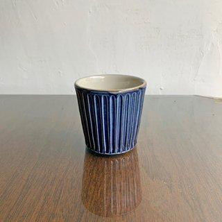 やちむん 工房o-gusuya コバルト釉しのぎフリーカップ