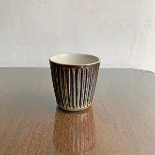 やちむん 工房o-gusuya アメ釉しのぎフリーカップ