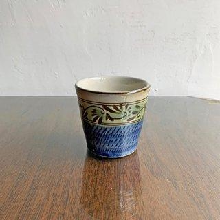 やちむん 工房o-gusuya 緑釉唐草文フリーカップ