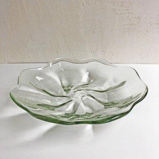 琉球ガラス glass32 うず皿大(クリア)