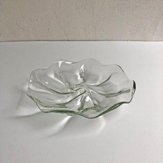 琉球ガラス glass32 うず皿小(クリア)