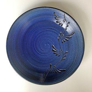 やちむん 幸陶器 青刷毛目7寸皿