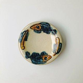やちむん ノモ陶器製作所 小皿(魚紋ゴス)