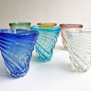 琉球ガラス ガラス工房清天 モールグラス(6色)