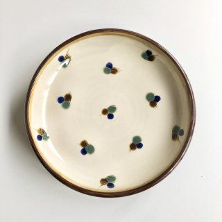 やちむん PEANUT 皿7寸櫛目