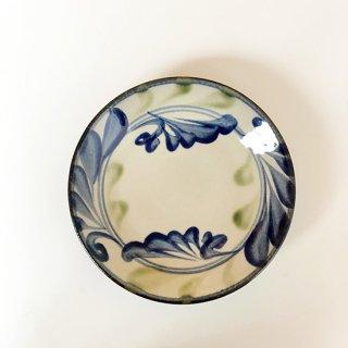 やちむん 陶眞窯 5寸皿(線唐草)