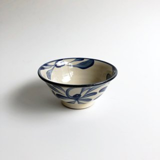やちむん 陶眞窯 3.5寸マカイ(コバルト唐草)