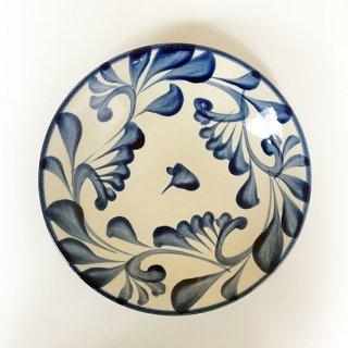 やちむん 陶眞窯 7寸皿(コバルト唐草)