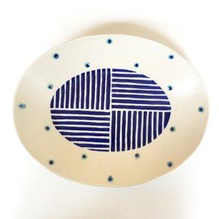 やちむん 高江洲陶磁器 楕円皿(大)