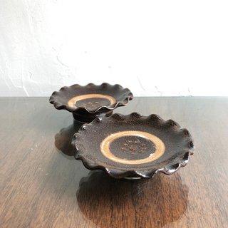 やちむん 陶藝玉城 3寸花弁皿 重焼