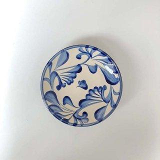 やちむん 陶眞窯 皿5寸(コバルト唐草)