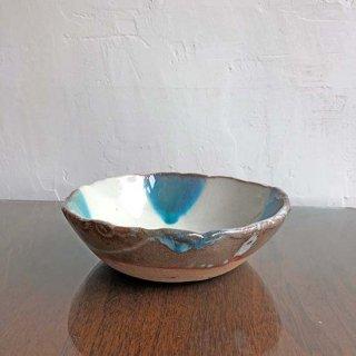 やちむん 西表焼青烽窯 ブルーの海 スープ鉢
