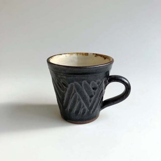 やちむん 西表焼青烽窯 鈴石釉 マグカップ