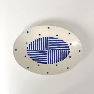 やちむん 高江洲陶磁器 楕円皿(小)