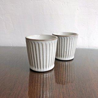 やちむん 工房o-gusuya わら灰釉しのぎフリーカップ