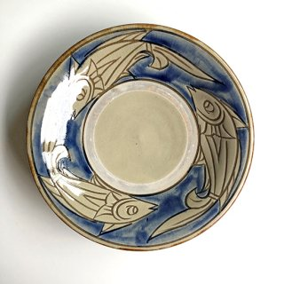 やちむん 陶芸城 皿7寸重焼