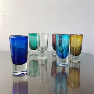 琉球ガラス ガラス工房清天 一口ビアグラス(5色)