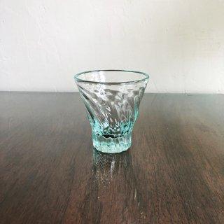琉球ガラス 白鴉再生硝子 レデューサーグラスショート(広口ライトラムネ)