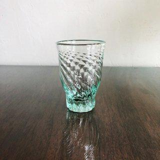 琉球ガラス 白鴉再生硝子 レデューサーグラス( ライトラムネ)