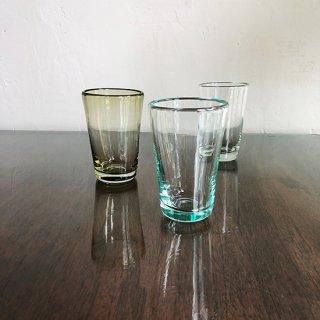 琉球ガラス 白鴉再生硝子 レギュラーコップ (3色)