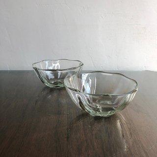 琉球ガラス glass32 うず小鉢(クリア)