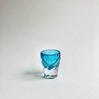 琉球ガラス ガラス工房清天 みなもショット(水色)