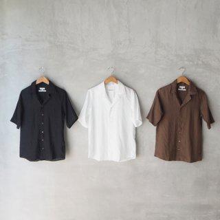 SOUTIENCOL<br>リネンオープンカラーシャツ<br>〈Audrey〉