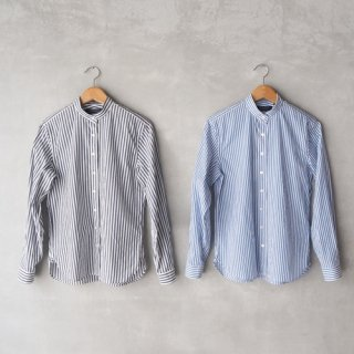 HAND ROOM WOMEN'S<br>ストライプ スタンドカラーシャツ