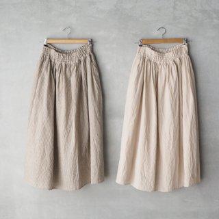 michel beaudouin<br>リネンシャーリングロングスカート
