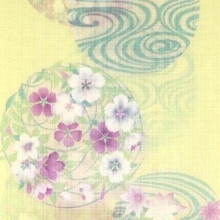 井登美 れん・黄色に花丸と光琳水