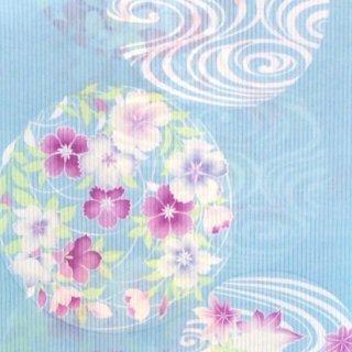 井登美 れん・水色に花丸と光琳水