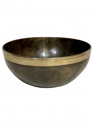 フルムーンボウル金環 01[21cm Key:C#] / Full moon singing bowl Gold ring