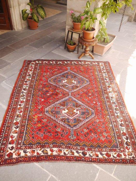 ペルシャ絨毯 シラーズ  約193×162
