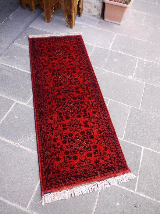 新しい絨毯 大人の絨毯 アフガン ビリジック ミニランナー  約150×57