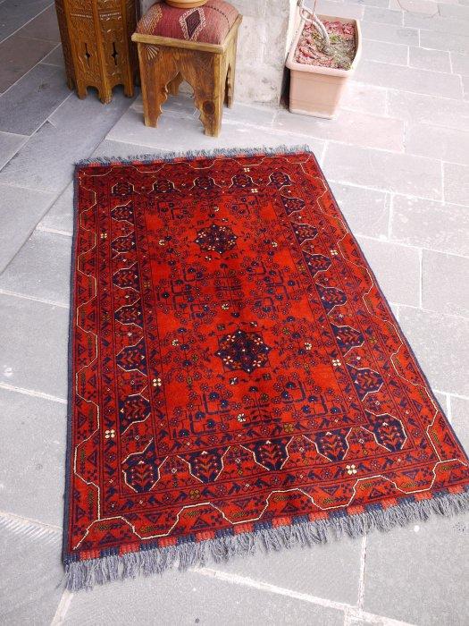 新しい絨毯 大人の絨毯 アフガン クンドゥズ  約152×101